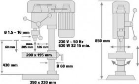 Masina de gaurit cu coloana Einhell BT-BD 701